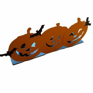Hallmark Pumpkin Bat Tri-Tealight Candle Holder